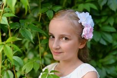 gullig flicka Royaltyfri Fotografi