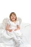 gullig flicka för ängel Royaltyfri Bild