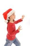 gullig flicka för 5 jul little Arkivbild