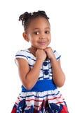 gullig flicka för afrikansk amerikan little stående royaltyfria foton