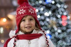 gullig flicka för jul Royaltyfri Fotografi