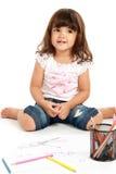 gullig flicka little smilimg fotografering för bildbyråer