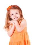 gullig flicka little som ler Fotografering för Bildbyråer