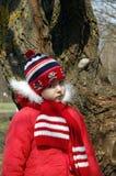 gullig flicka utomhus Royaltyfria Foton