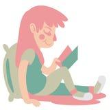 gullig flickaavläsning Arkivbild