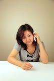 gullig flickaframställning för ett asiatiskt felanmälan Fotografering för Bildbyråer
