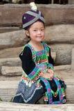 gullig flickahmong laos Arkivfoto