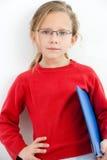 gullig flickaholdinganteckningsbok Fotografering för Bildbyråer