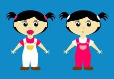 gullig flickalitet barn Stock Illustrationer