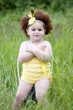 gullig flickalitet barn royaltyfria bilder