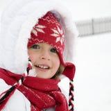 gullig flickaståendevinter Royaltyfri Bild