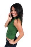 gullig flickatelefon för cell Royaltyfria Bilder