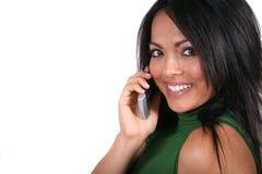 gullig flickatelefon för cell Royaltyfria Foton