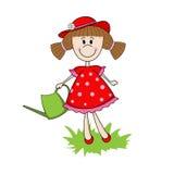 Gullig flickaträdgårdsmästare Royaltyfria Bilder