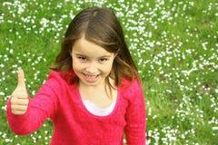 gullig flickatum upp Arkivfoto