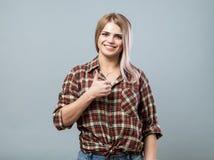 gullig flickatum upp Fotografering för Bildbyråer