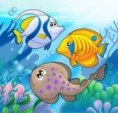 gullig flotta för 2 djur royaltyfri illustrationer