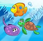 gullig flotta för 3 djur royaltyfri illustrationer