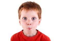 gullig framställning för pojke Arkivfoto