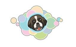 Gullig fransk bulldogg för vektor Royaltyfri Foto