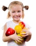 gullig fruktflicka little Arkivfoto