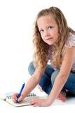 gullig görande isolerad flickaläxa Arkivfoton