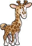 gullig giraffillustration Arkivfoto
