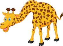 Gullig girafftecknad film Royaltyfri Illustrationer
