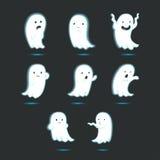 Gullig glödande spöke vektor illustrationer
