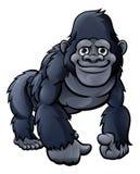Gullig gorilla för tecknad film stock illustrationer