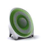 gullig grön högtalare 3d Arkivbild