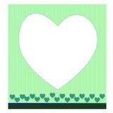 Gullig grön hjärta Arkivfoto