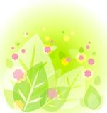 gullig green för abstrakt bakgrund royaltyfri illustrationer