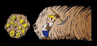 gullig gruvarbetare Arkivfoto