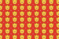 Gullig gul piggy bakgrund vektor illustrationer