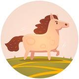 gullig häst royaltyfri illustrationer