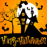 gullig halloween illustration royaltyfri illustrationer