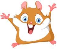 gullig hamster Arkivfoton