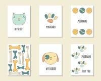 Gullig hand dragen klotterfödelsedag, parti, baby showerkort royaltyfri illustrationer