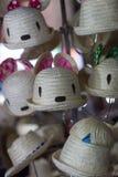 Gullig handgjord hatt Arkivfoto