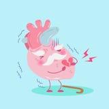 gullig hjärta för tecknad film Royaltyfri Bild