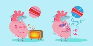 gullig hjärta för tecknad film Arkivbilder