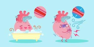 gullig hjärta för tecknad film Royaltyfria Bilder