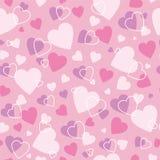 Gullig hjärtabakgrund Arkivbild