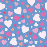 Gullig hjärtabakgrund Royaltyfri Bild