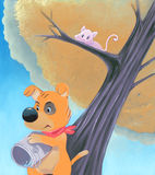 gullig hund för hink vektor illustrationer