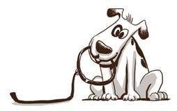 Gullig hund som rymmer en koppel Royaltyfri Bild