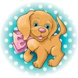 Gullig hundspaniel royaltyfri illustrationer
