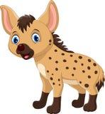Gullig hyenatecknad film Roligt och förtjusande Arkivfoto