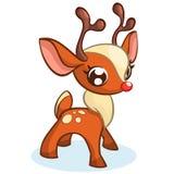Gullig illustration för julrenvektor stock illustrationer